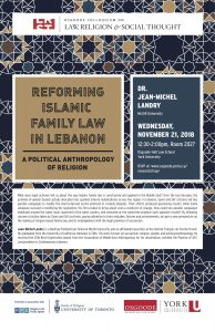 """Image for the event """"Reforming Islamic Family Law in Lebanon: A Political Anthropology of Religion""""."""